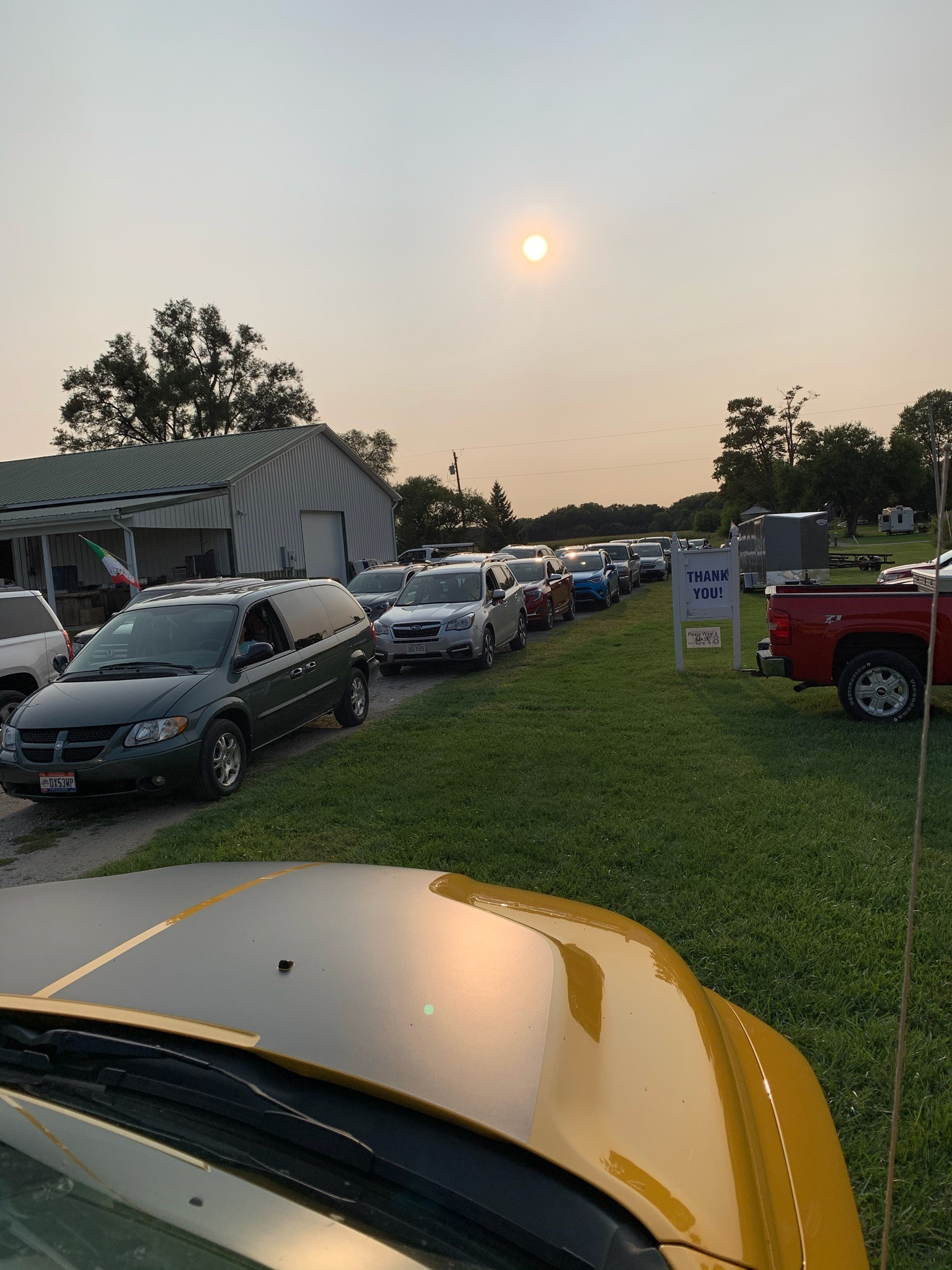 Cars at the meeting